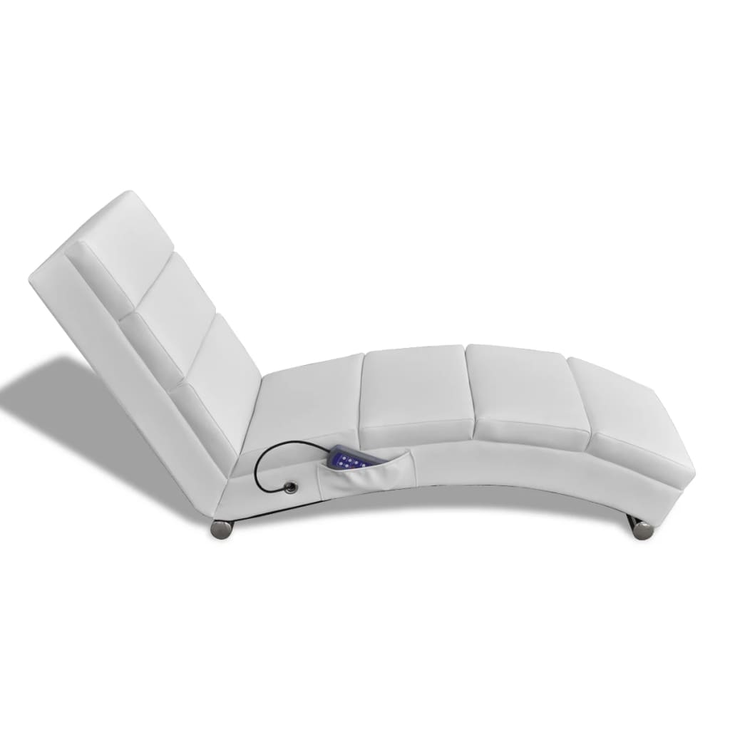 White Artificial Leather Electric Massage Chair