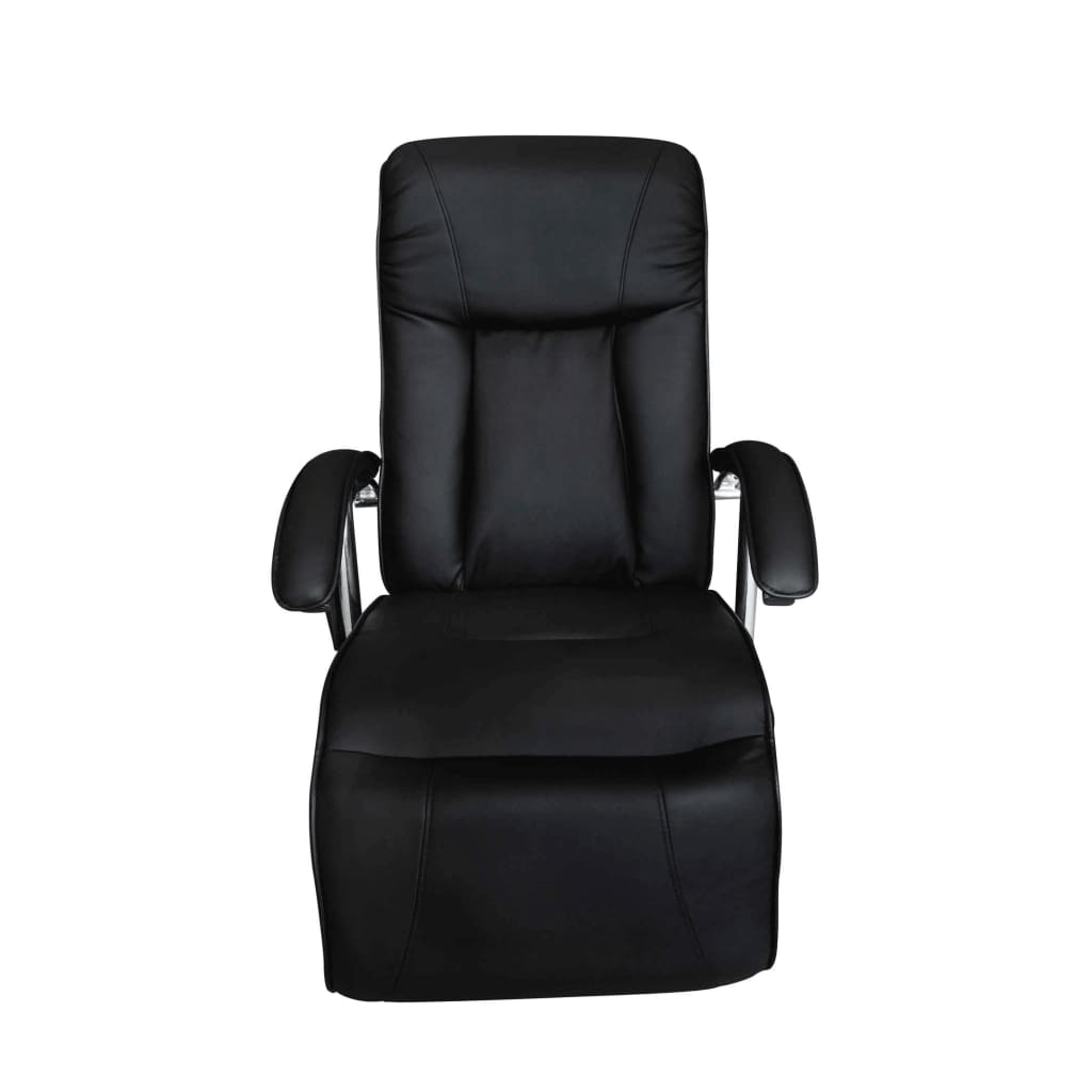 Black Artificial Leather Electric Tv Recliner Massage