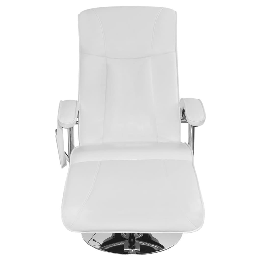 White Artificial Leather Electric Tv Recliner Massage