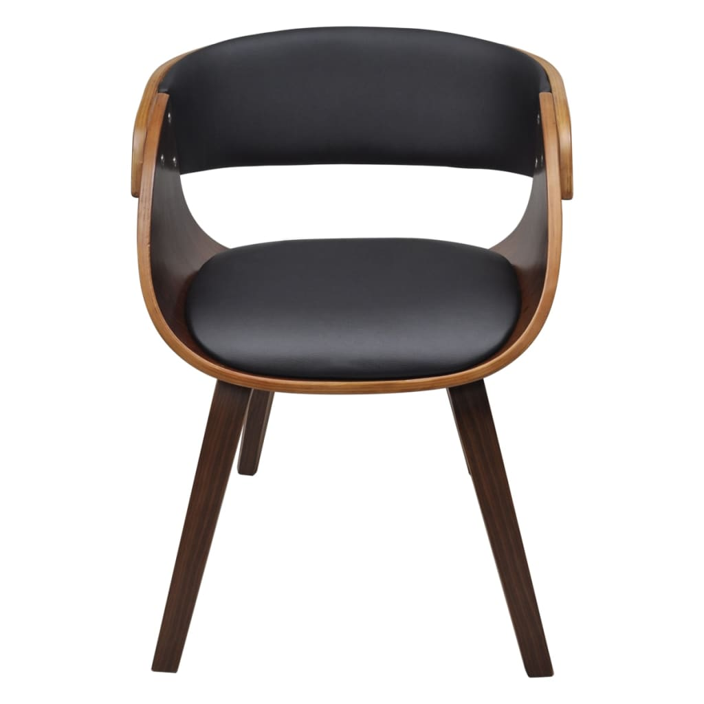 Dining chair with padded bentwood seat for Chaise en bois noir