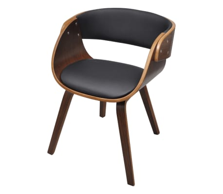Dining chair with padded bentwood seat - Chaise noire et bois ...