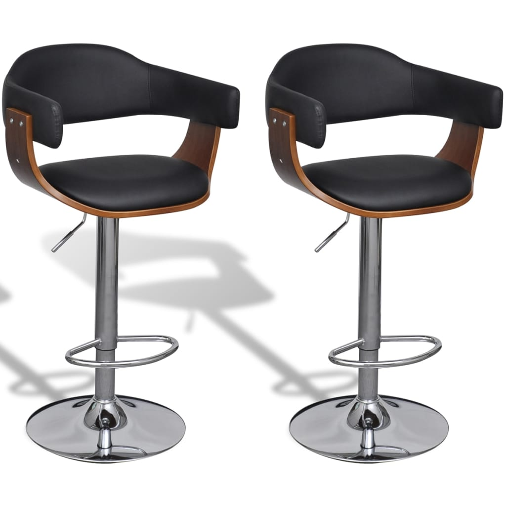 Set of 2 Adjustable Swivel Bar Stool Artificial Leather  : image from www.vidaxl.co.uk size 1024 x 1024 jpeg 61kB