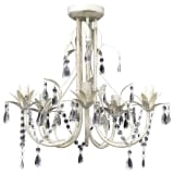 "vidaXL Chandelier White 18""x17"""