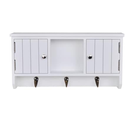 armoire cl s et bijoux murale avec portes et crochets. Black Bedroom Furniture Sets. Home Design Ideas