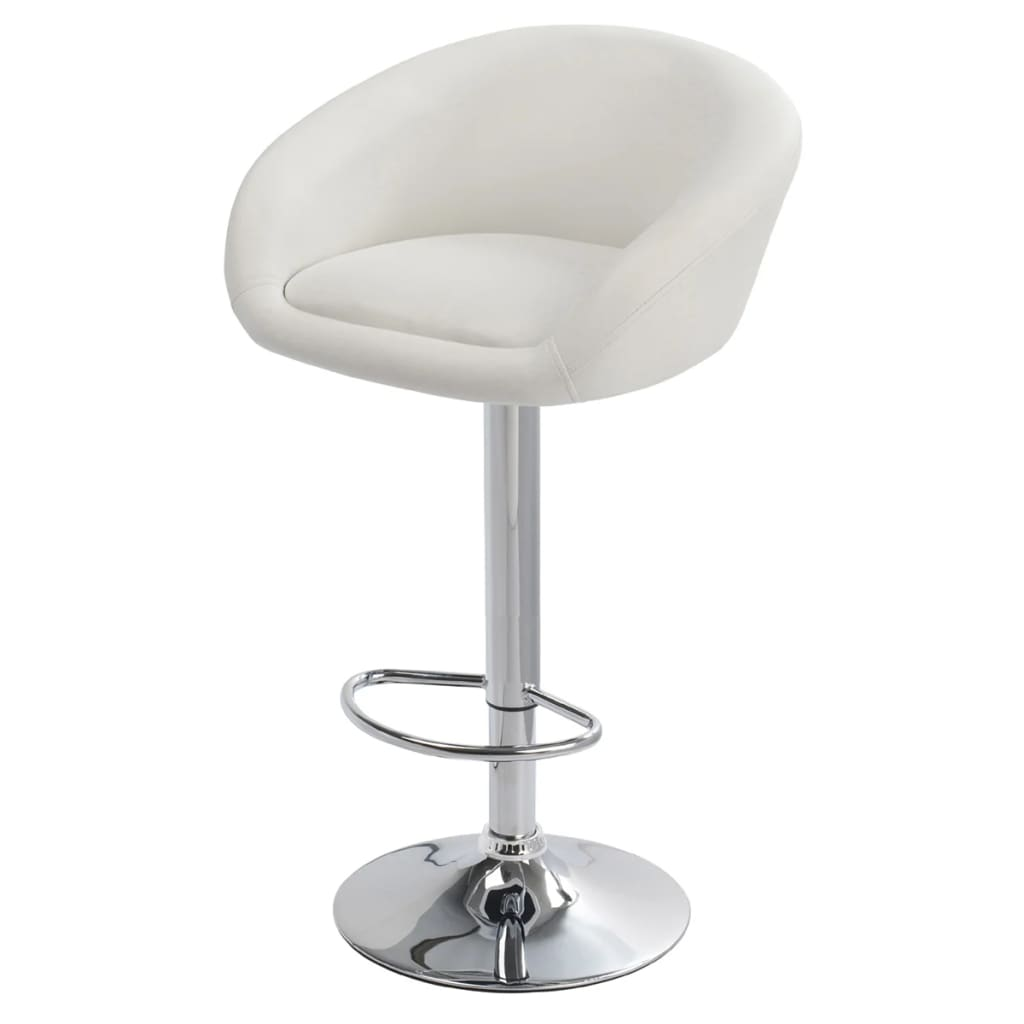 Set of 2 White Bar Stool Dallas vidaXLcom : image from www.vidaxl.com size 1024 x 1024 jpeg 27kB