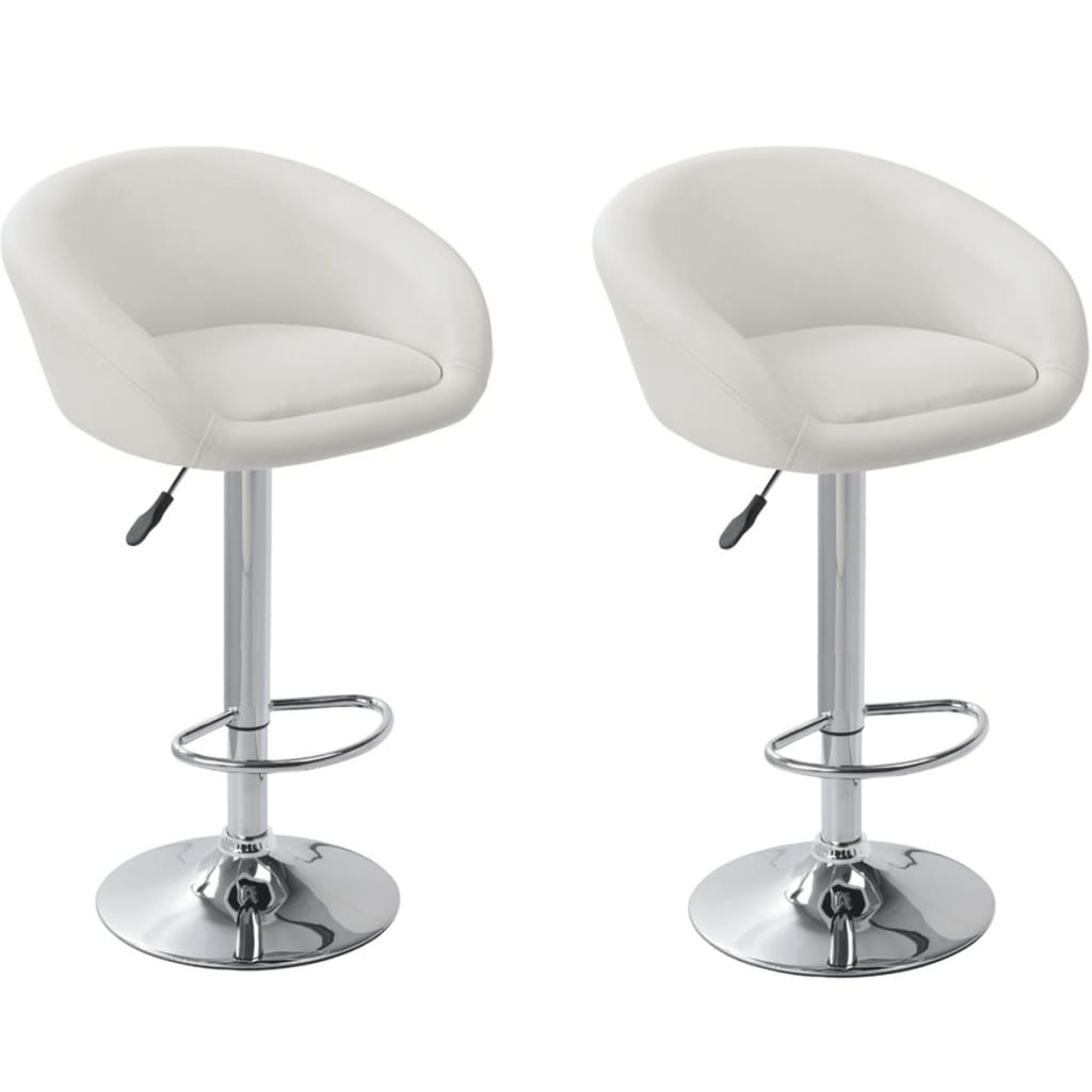 Set of 2 White Bar Stool Dallas vidaXLcom : image from www.vidaxl.com size 1024 x 1024 png 297kB