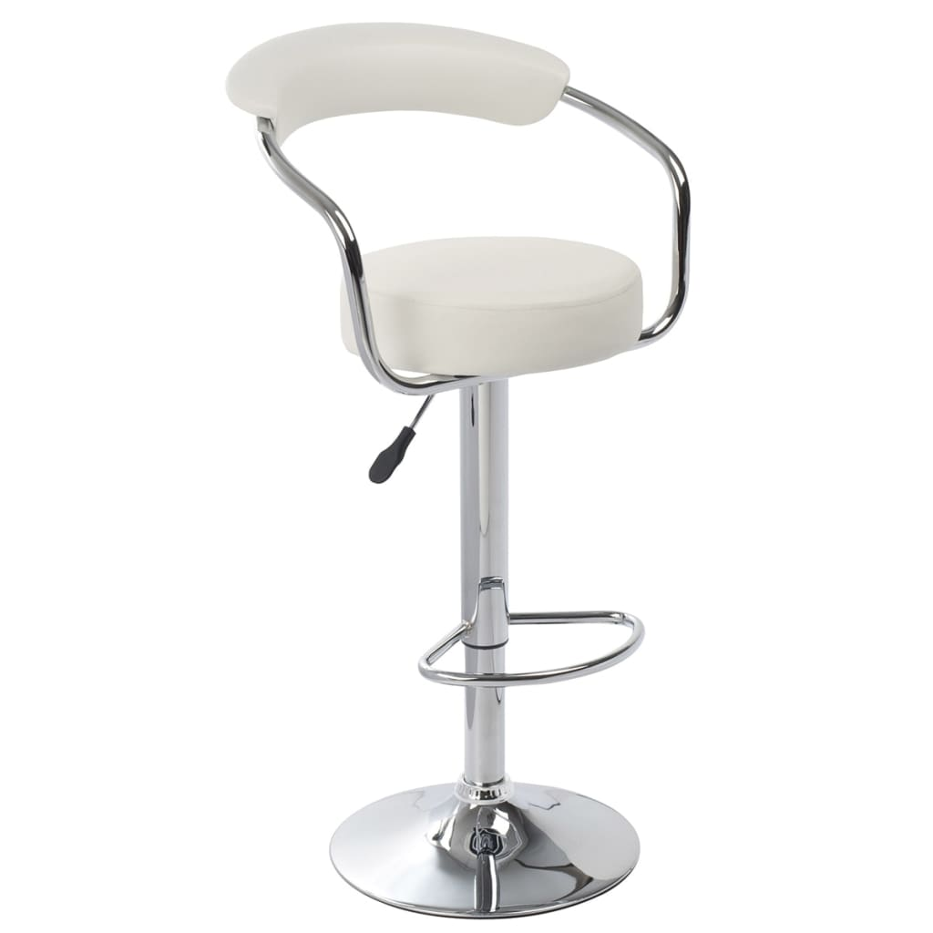 Set of 2 White Bar Stool Daytona vidaXLcom : image from www.vidaxl.com size 1024 x 1024 png 237kB