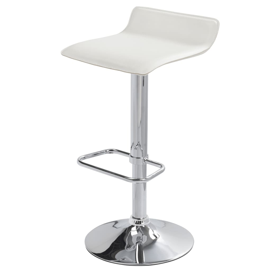 Set Of 2 White Bar Stool San Diego Vidaxl Com