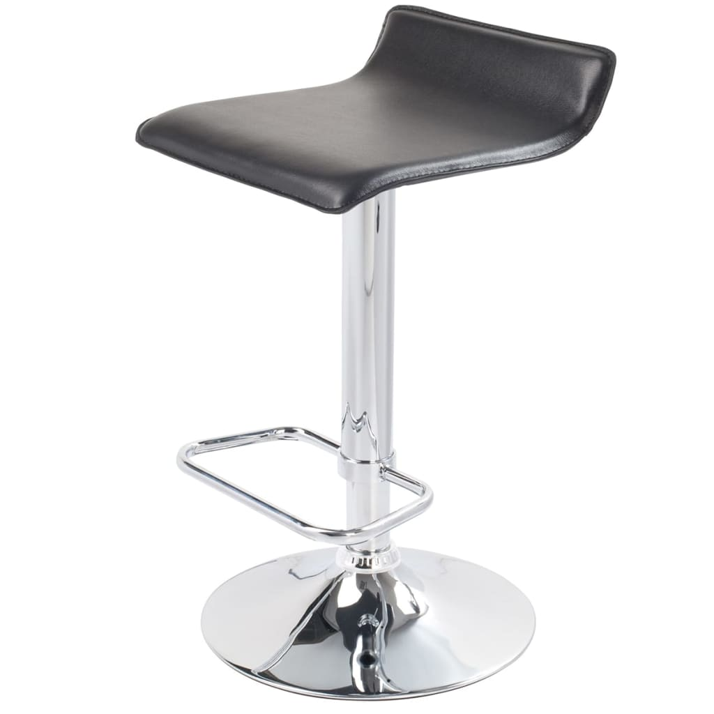Set Of 2 Black Bar Stool San Diego Vidaxl Com