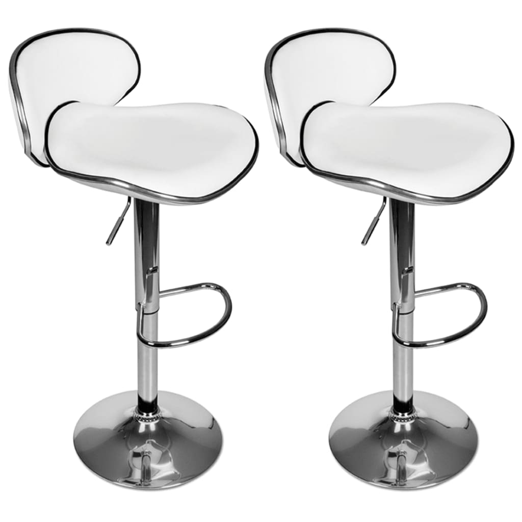 Set of 2 White Adjustable Height Swivel Bar Stool vidaXLcom : image from www.vidaxl.com size 1024 x 1024 png 331kB