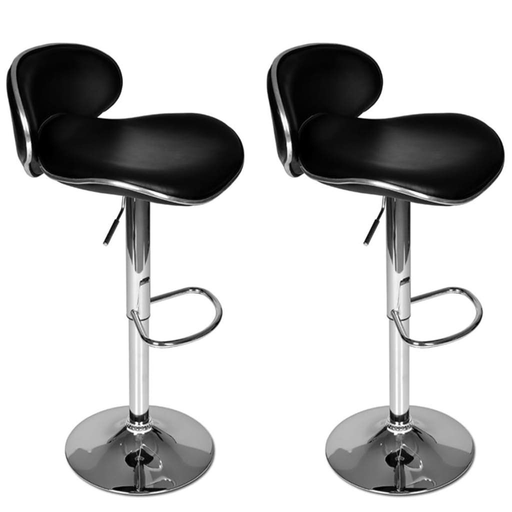 Set of 2 Black Adjustable Height Swivel Bar Stool vidaXLcom : image from www.vidaxl.com size 1024 x 1024 png 295kB