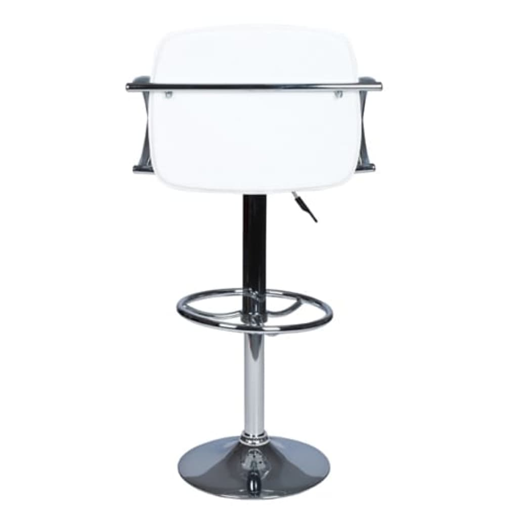 Set of 2 White Bar Stool with Round Footrest vidaXLcom : image from www.vidaxl.com size 1024 x 1024 jpeg 24kB