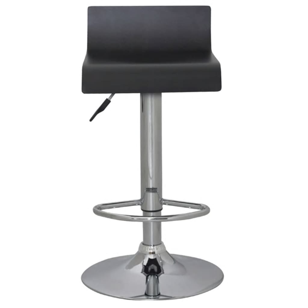 Marvelous photograph of Set of 2 Black Bar Stool Wooden Seat with Low Backrest vidaXL.com with #53575E color and 1024x1024 pixels