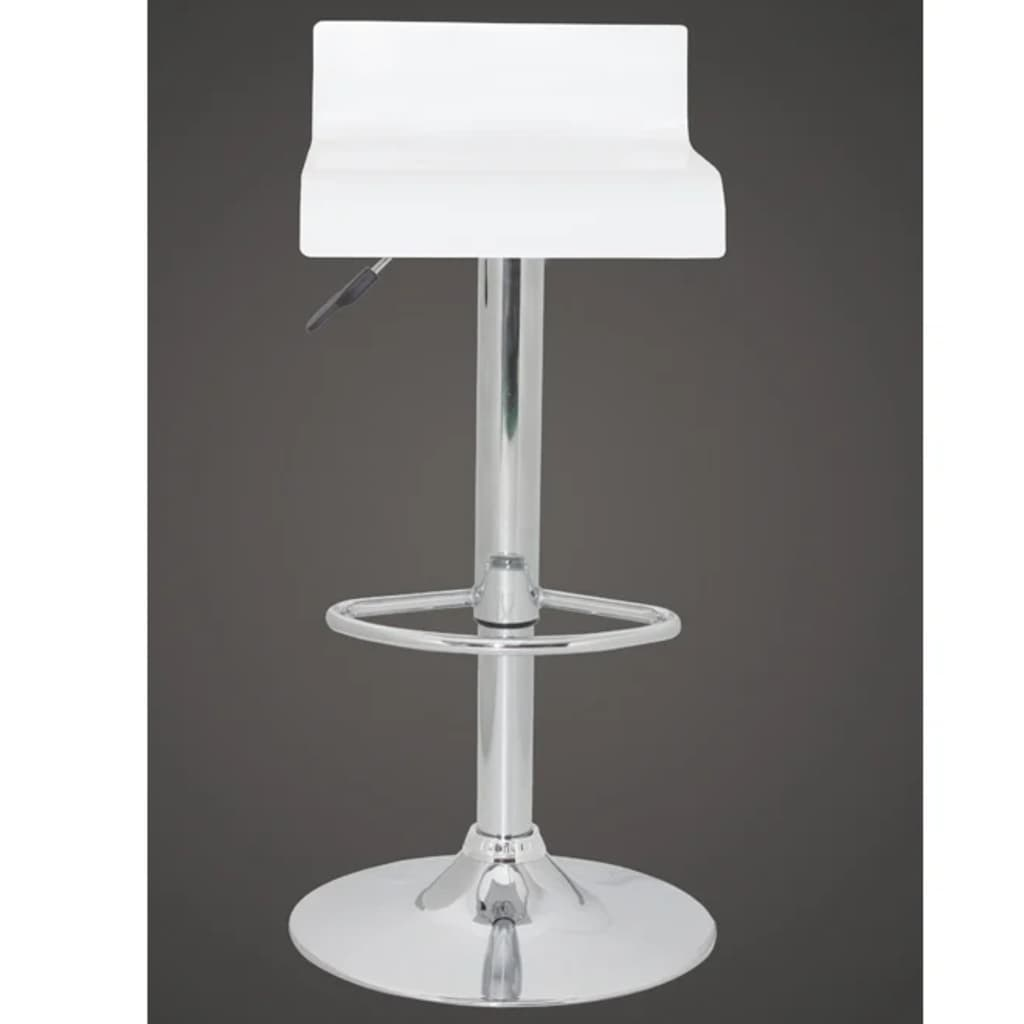 Set of 2 White Bar Stool Wooden Seat with Low Backrest  : image from www.vidaxl.com size 1024 x 1024 jpeg 30kB