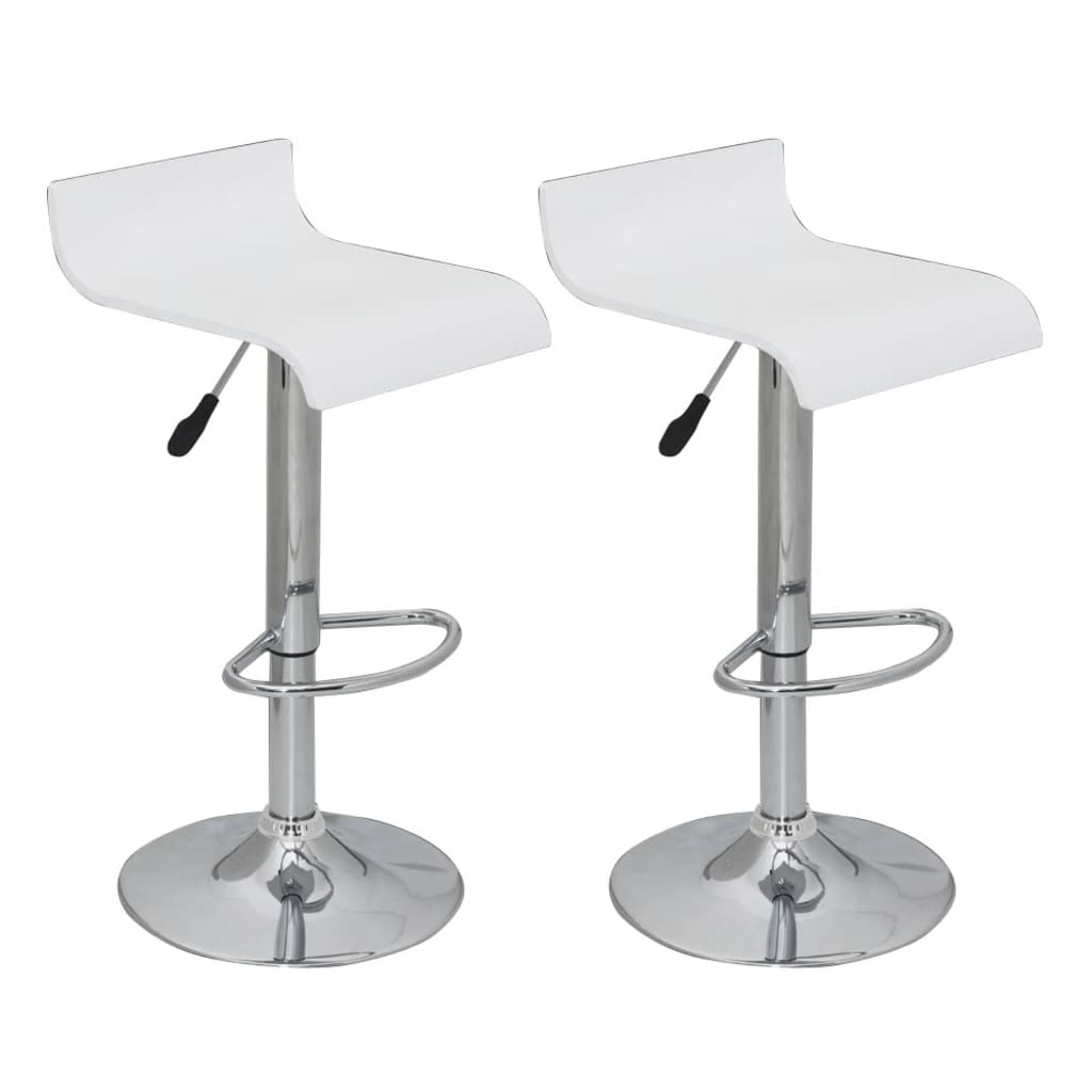 Marvelous photograph of Set of 2 White Bar Stool Wooden Seat with Low Backrest vidaXL.com with #535659 color and 1024x1024 pixels