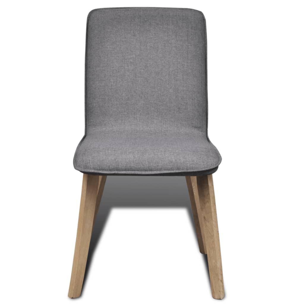 set of 2 dark gray fabric oak dining chair indoor36