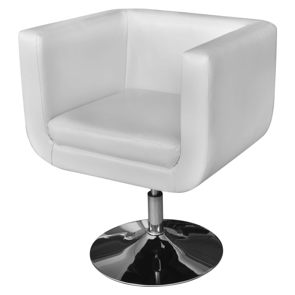 White adjustable arm chair with chrome base for Arm chair white