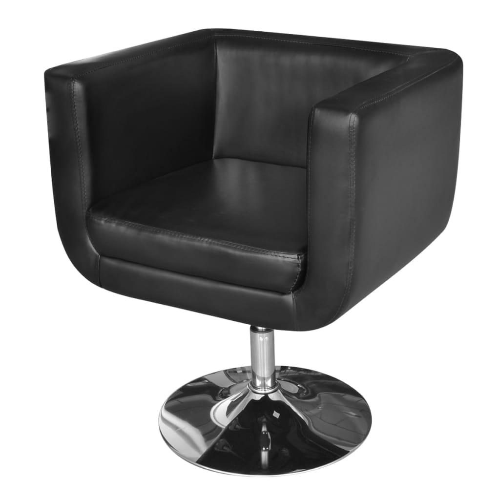 Black Arm Chairs ~ Black adjustable arm chair with chrome base vidaxl