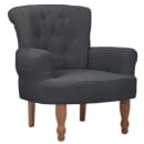 Gray French Arm Chair High Quality Fabric