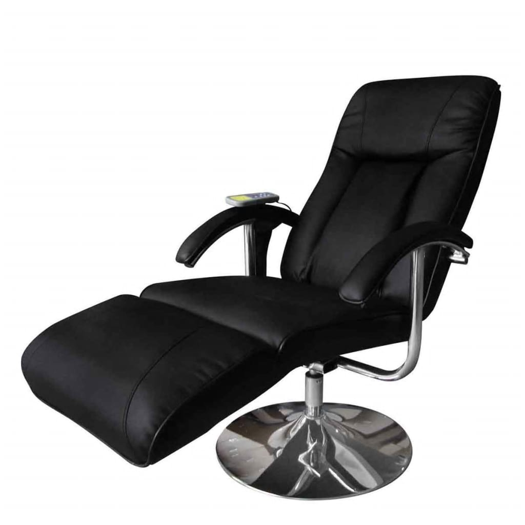 Black Electric TV Recliner Massage Chair | vidaXL.com