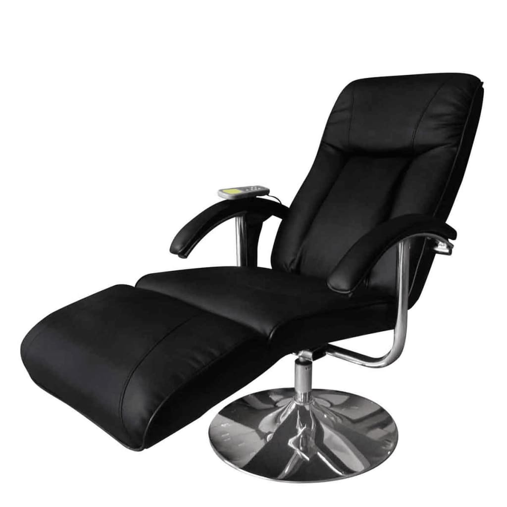 Black Electric Tv Recliner Massage Chair Vidaxl Com
