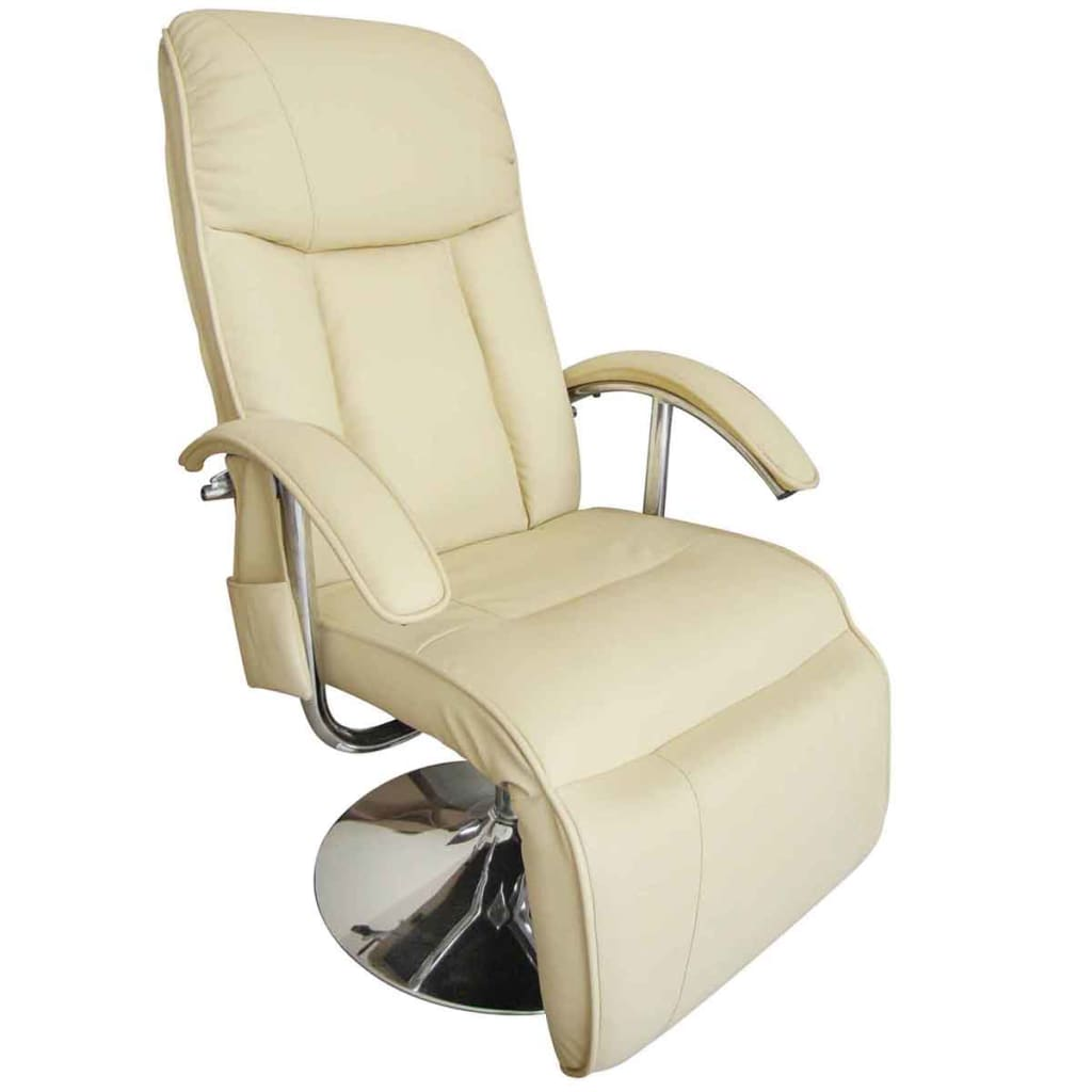 Cream white electric tv recliner massage chair for Chair massage