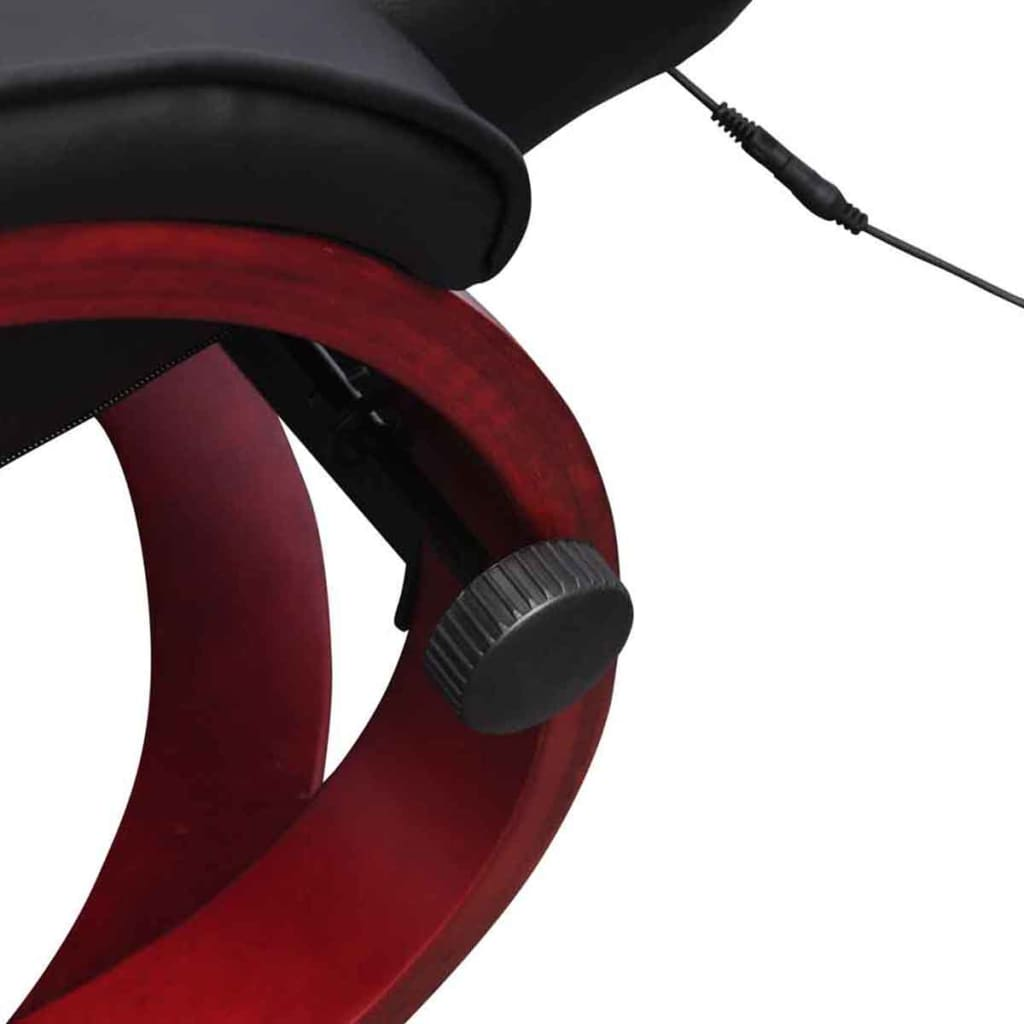 Black Electric TV Recliner Massage Chair With Footstool3 5