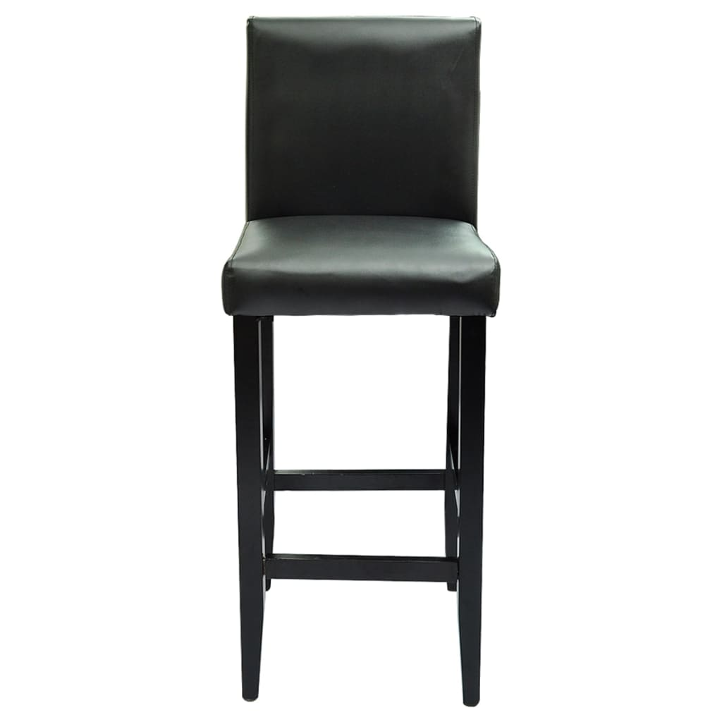 Set Of 2 Modern Black Bar Stool Vidaxl Com