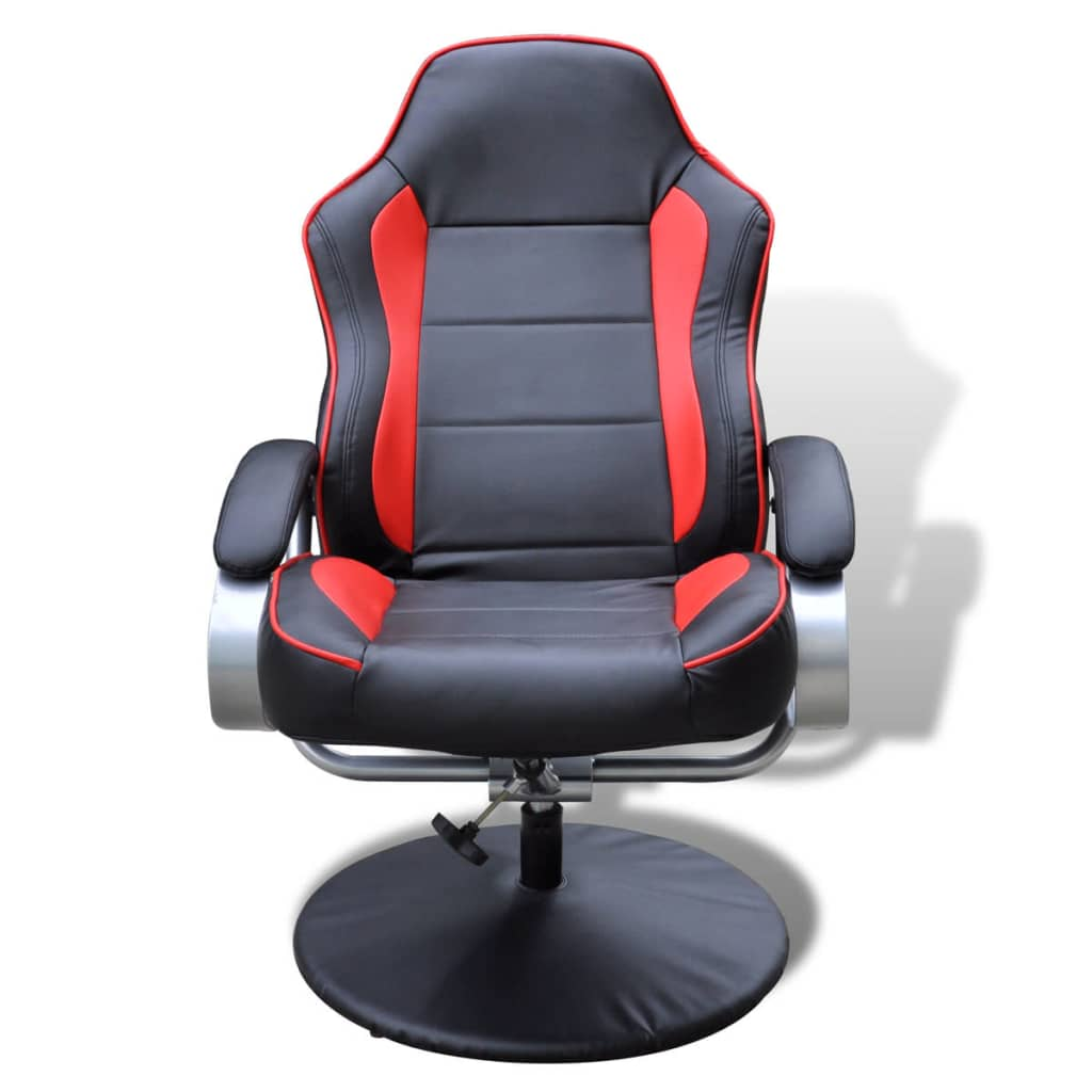 Electric tv recliner massage chair black with a footstool www vidaxl -  Black And Red Tv Armchair Recliner Artificial Leather With Footstool 5 6