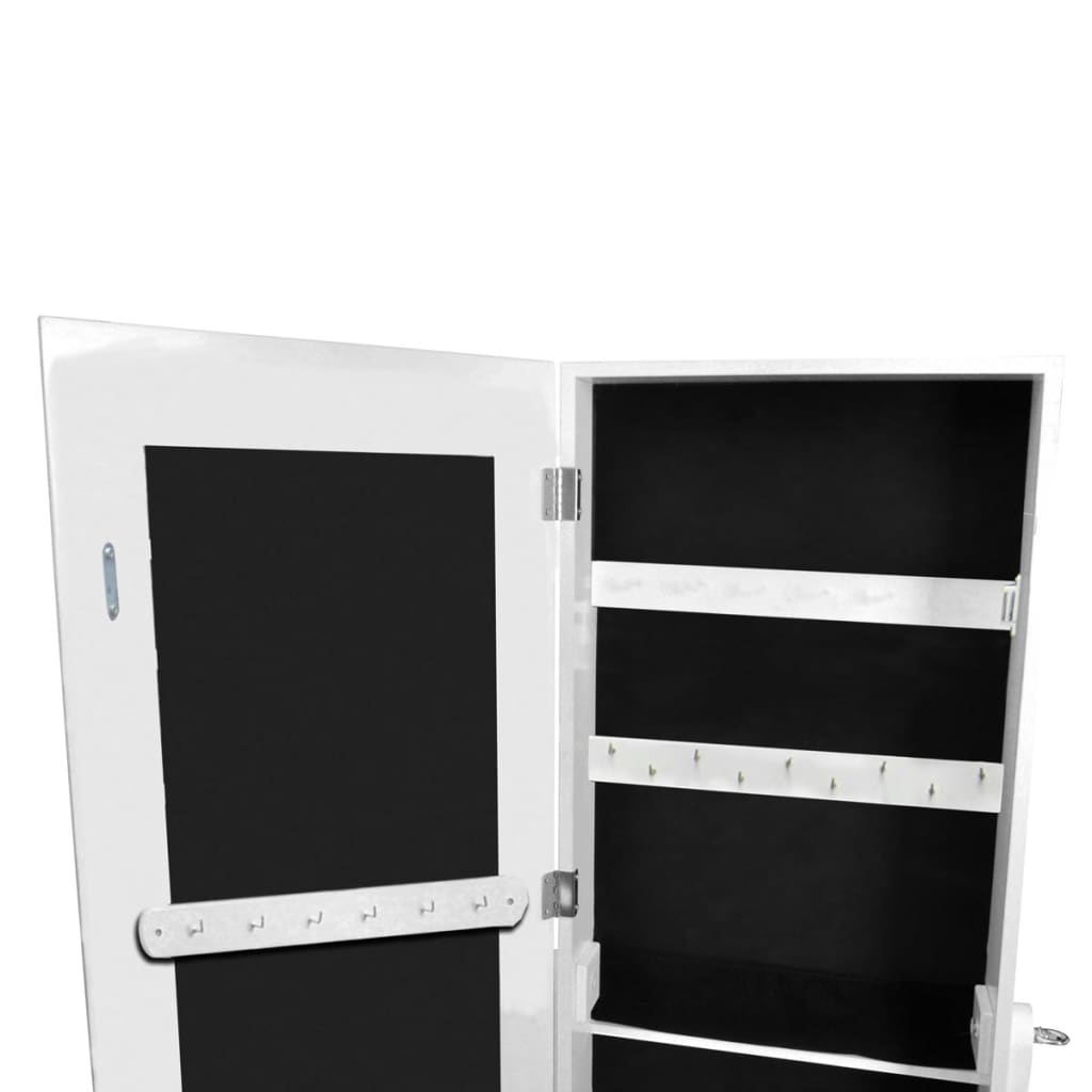 White free standing mirror jewelry cabinet for White long standing mirror