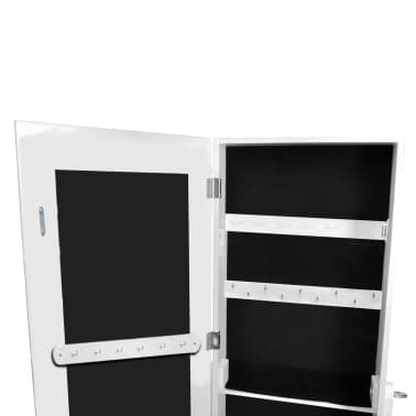 full length free standing mirror with lights ikea rack white jewelry bathroom amazon