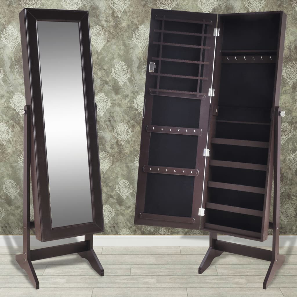 Mirrored Jewelry Cabinet Armoire Organizer Storage Box