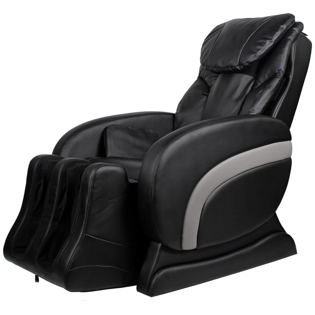 Electric Artificial Leather Recliner Massage Chair Black