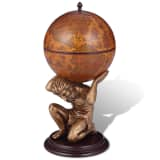 Bar globe terrestre / armoire à vin Atlas 42 x 42 x 85 cm