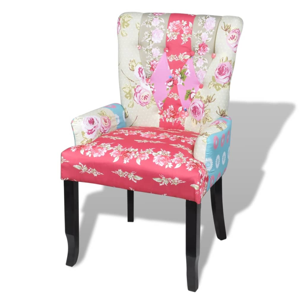 patchwork armchair fabric upholstery