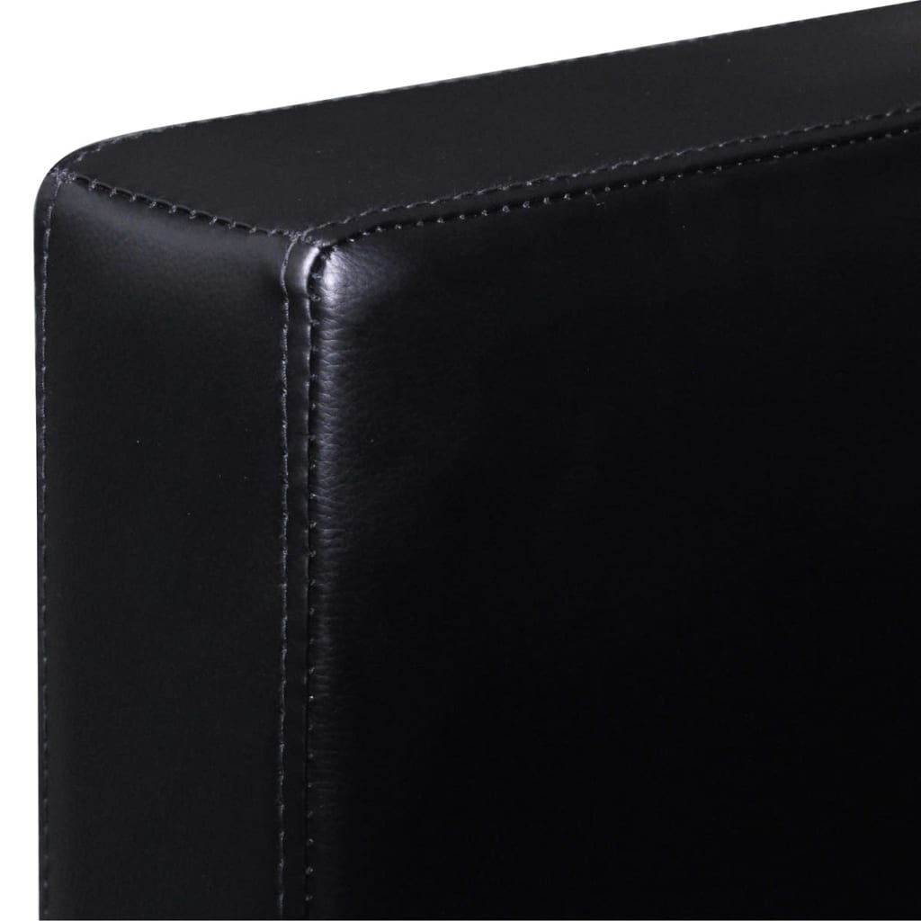 3 seater l shaped artificial leather sectional sofa black for Sectional sofa 6 seater