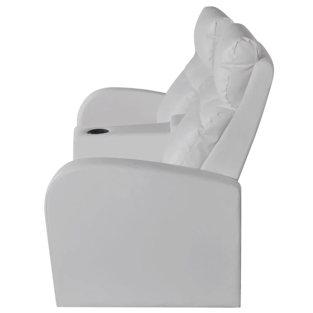 der kunstleder heimkino sessel relaxsessel sofa 2-sitzer weiß, Hause deko