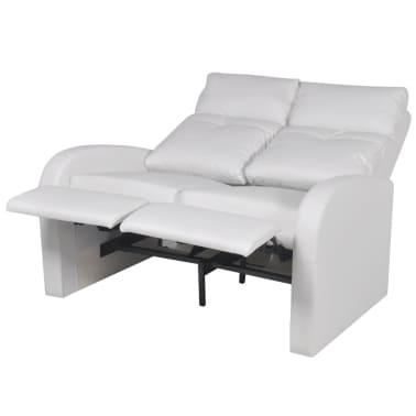 der kunstleder heimkino relaxsessel sessel sofa 2-sitzer weiß, Hause deko