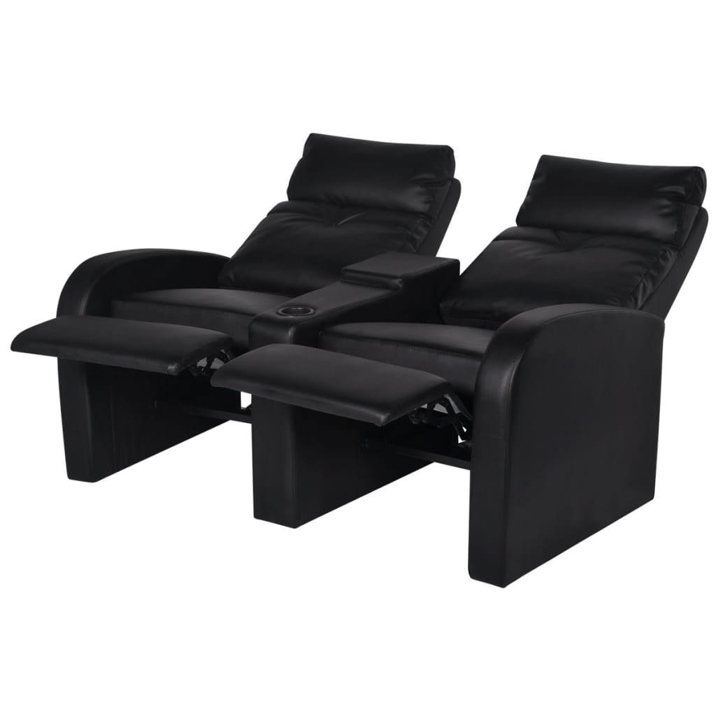 kunstleder heimkino sessel relaxsessel sofa 2 sitzer. Black Bedroom Furniture Sets. Home Design Ideas