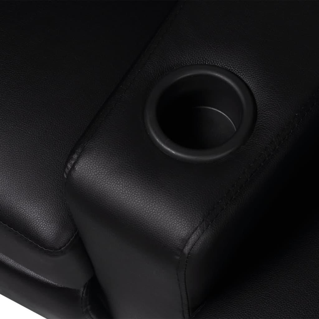 der kunstleder heimkino sessel relaxsessel sofa 2-sitzer schwarz, Hause deko