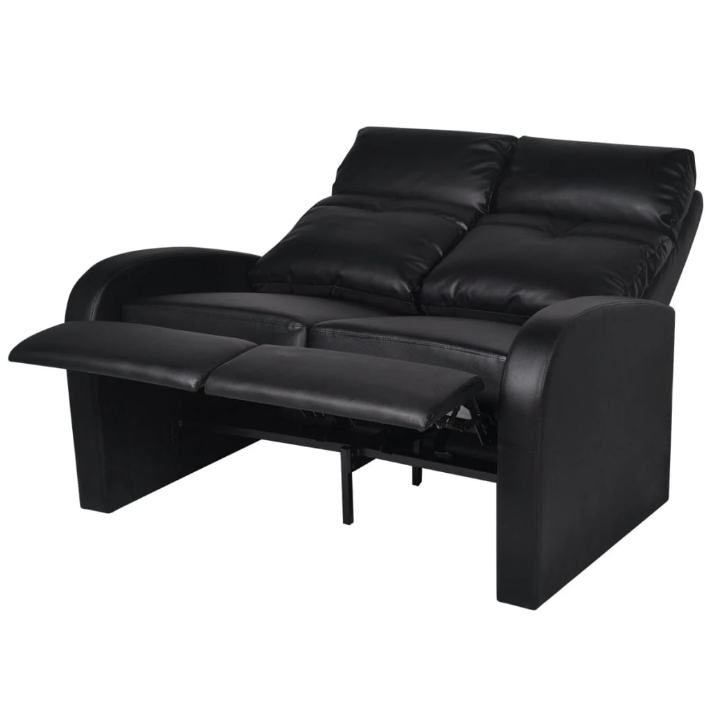 kunstleder heimkino sessel relaxsessel 2 sitzer sofa schwarz zum schn ppchenpreis. Black Bedroom Furniture Sets. Home Design Ideas