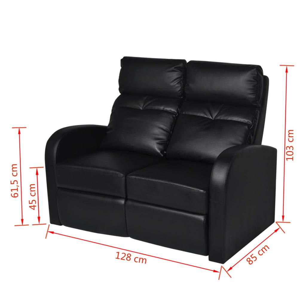 Der kunstleder heimkino sessel relaxsessel 2 sitzer sofa for Relaxsessel sale