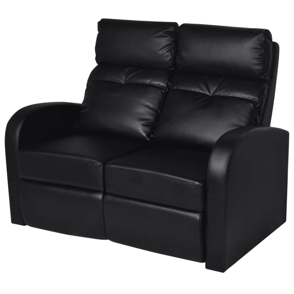 der kunstleder heimkino sessel relaxsessel 2 sitzer sofa schwarz online shop. Black Bedroom Furniture Sets. Home Design Ideas