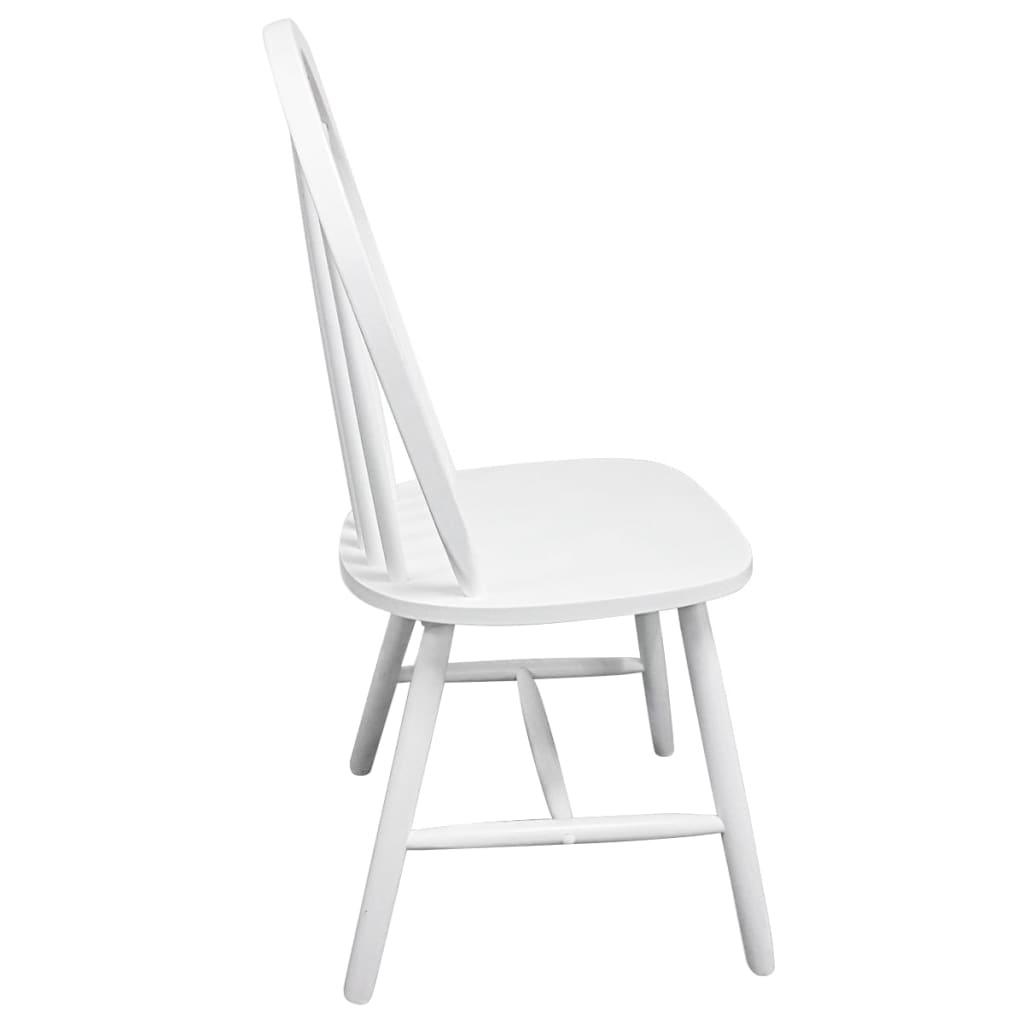 Vidaxl 2x sillas de sal n comedor redondas de madera blancas sillas de cocina ebay - Vidaxl sillas ...