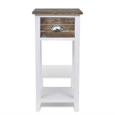 acheter vidaxl armoire de chevet avec 1 tiroir marron. Black Bedroom Furniture Sets. Home Design Ideas