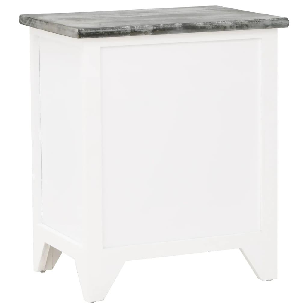nachttisch telefontisch mit 2 schubladen grau wei 2er set g nstig kaufen. Black Bedroom Furniture Sets. Home Design Ideas