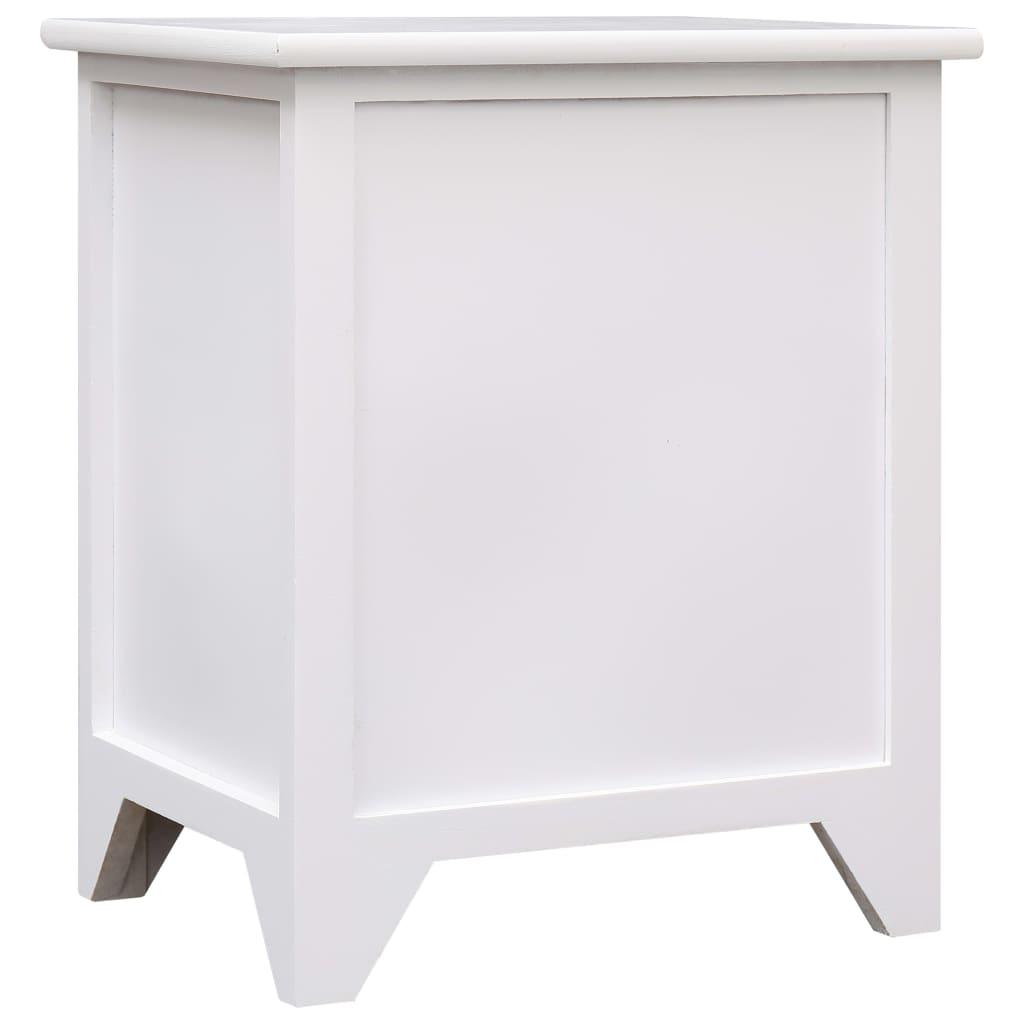 acheter 2 tables de chevet meubles pour t l phone 2 tiroirs blancs pas cher. Black Bedroom Furniture Sets. Home Design Ideas