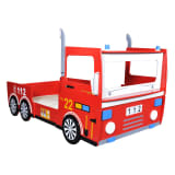 Children's Fire Engine Bed 200 x 90 cm Red