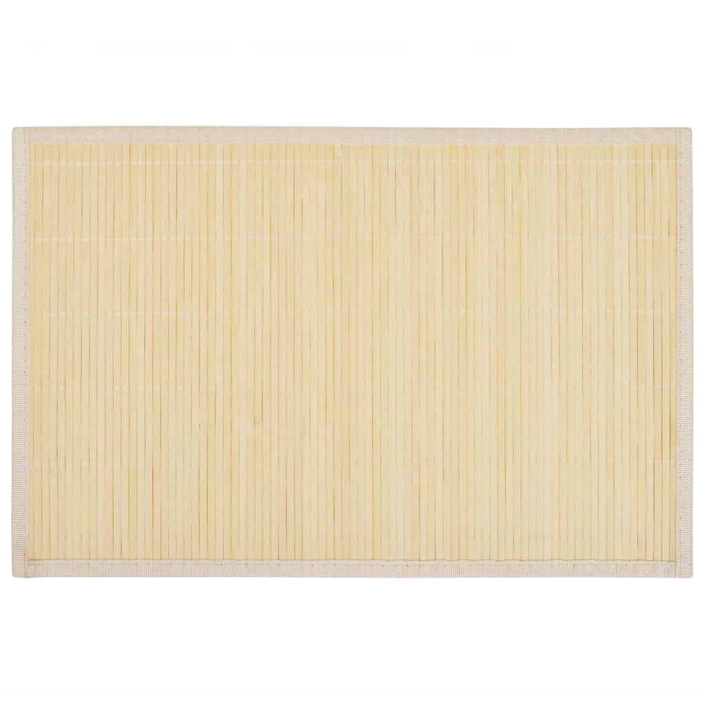 Afbeelding van vidaXL 6 Placemats bamboe 30 x 45 cm natuurlijk