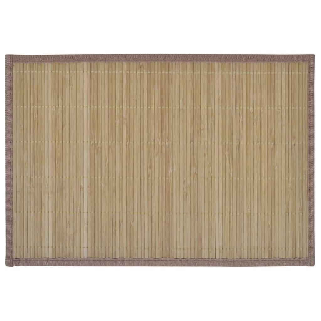 handla 6 bordstabletter i bambu 30 x 45 cm brun. Black Bedroom Furniture Sets. Home Design Ideas